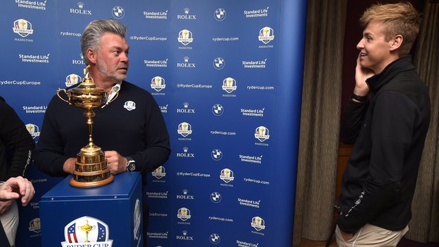 Darren Clarke and his son Tyrone with the Ryder Cup