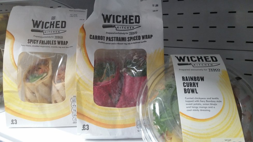Tesco's Wicked products