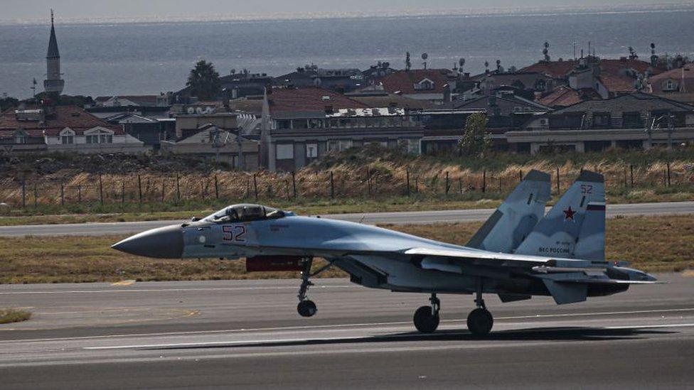 طائرة سوخوي 35 المقاتلة الروسية