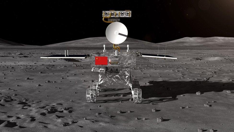 Chang'e 4 robotik uzay aracının Ay'ın karanlık yüzüne bu şekilde indiği tahmin ediliyor.