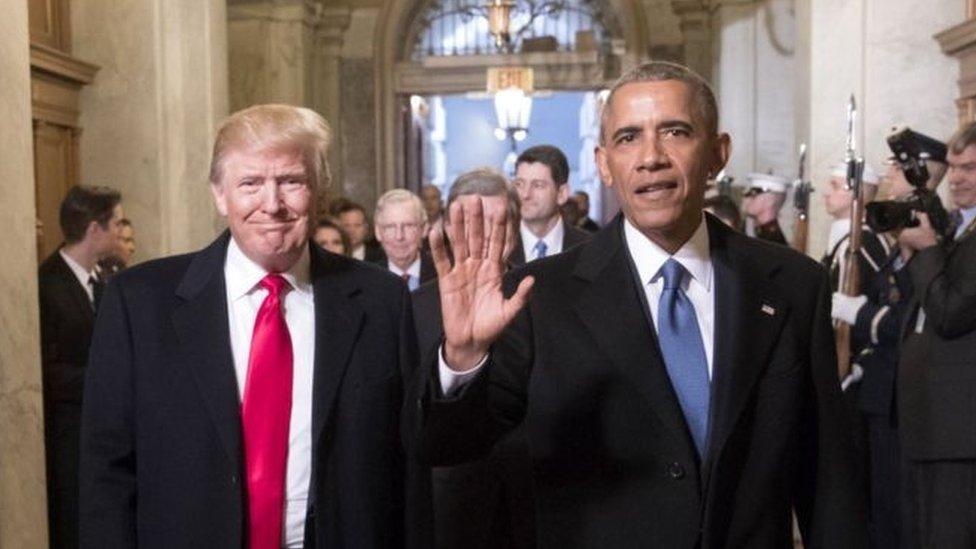 """اتهم ترامب أوباما بالضلوع في """"جريمة سياسية"""" لمنعه من الفوز بولاية جديدة"""