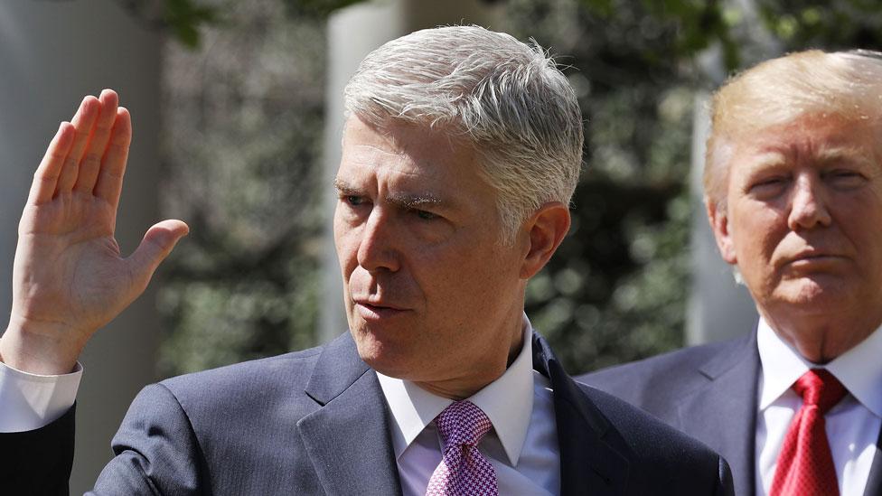 Gorsuch fue el primer juez nominado por Trump.