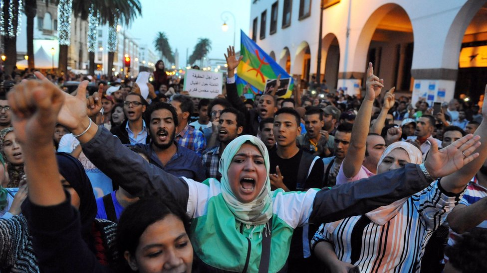 Protest called by the February 20 Movement in Rabat. 30 Oct 2016
