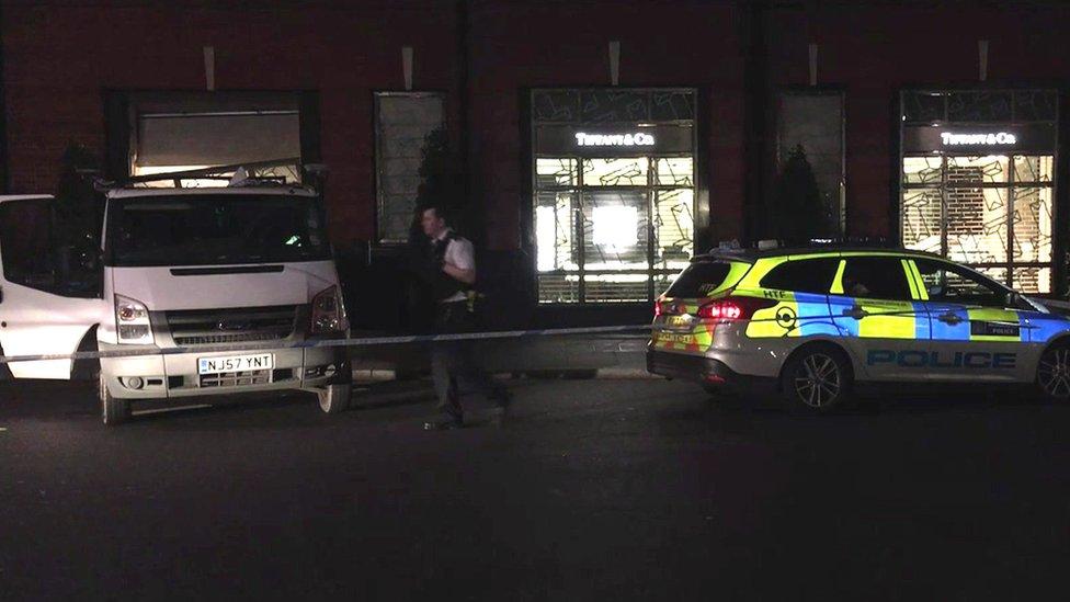 Tiffany's ram raid: Van driven into London jewellery store