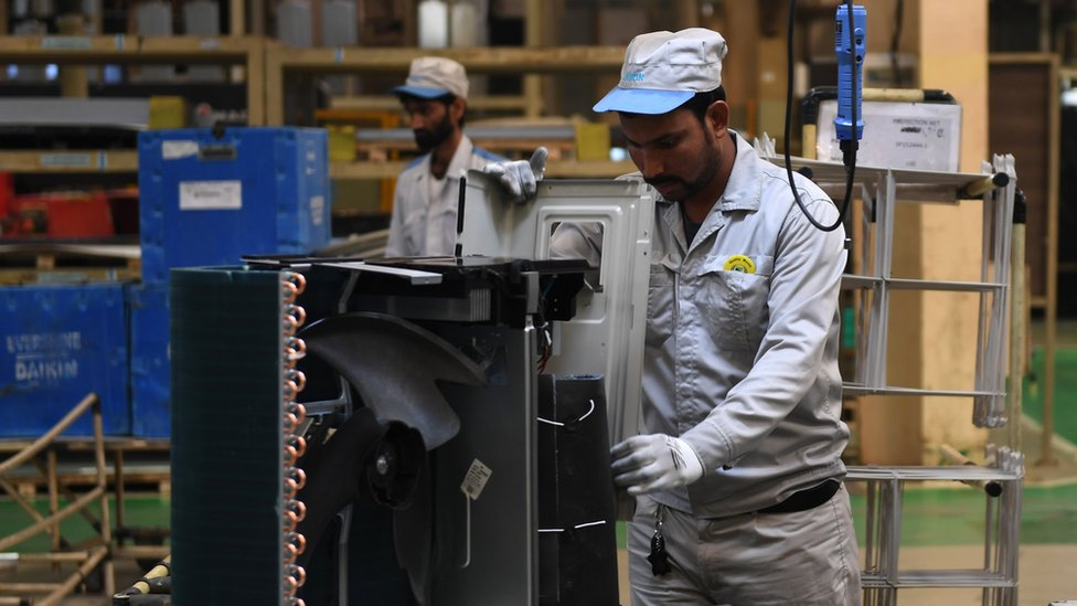 Air conditioning unit factory south of Delhi