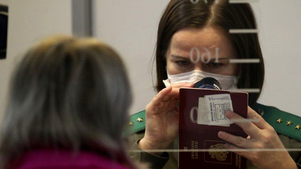 Minsk airport passport check