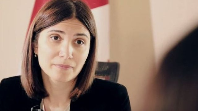 Nino Javakhadze, viceministra del Interior de Georgia.