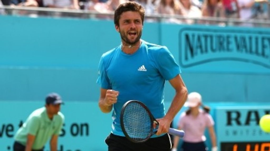 Queen's: 'Exhausting' - Gilles Simon hits winner after 49-shot rally