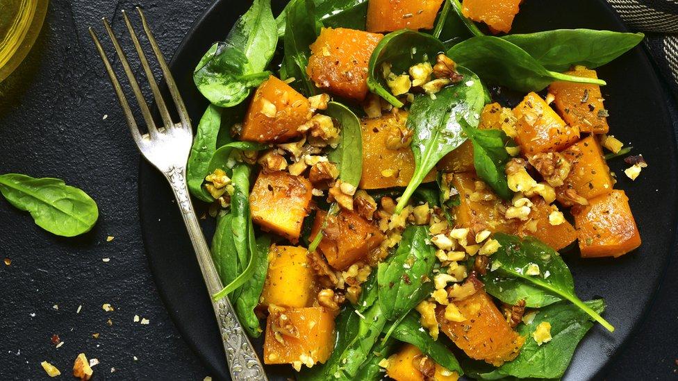 pumpkin salad on a plate