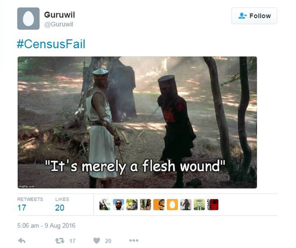 """An internet meme that says: """"It's merely a flesh wound"""""""