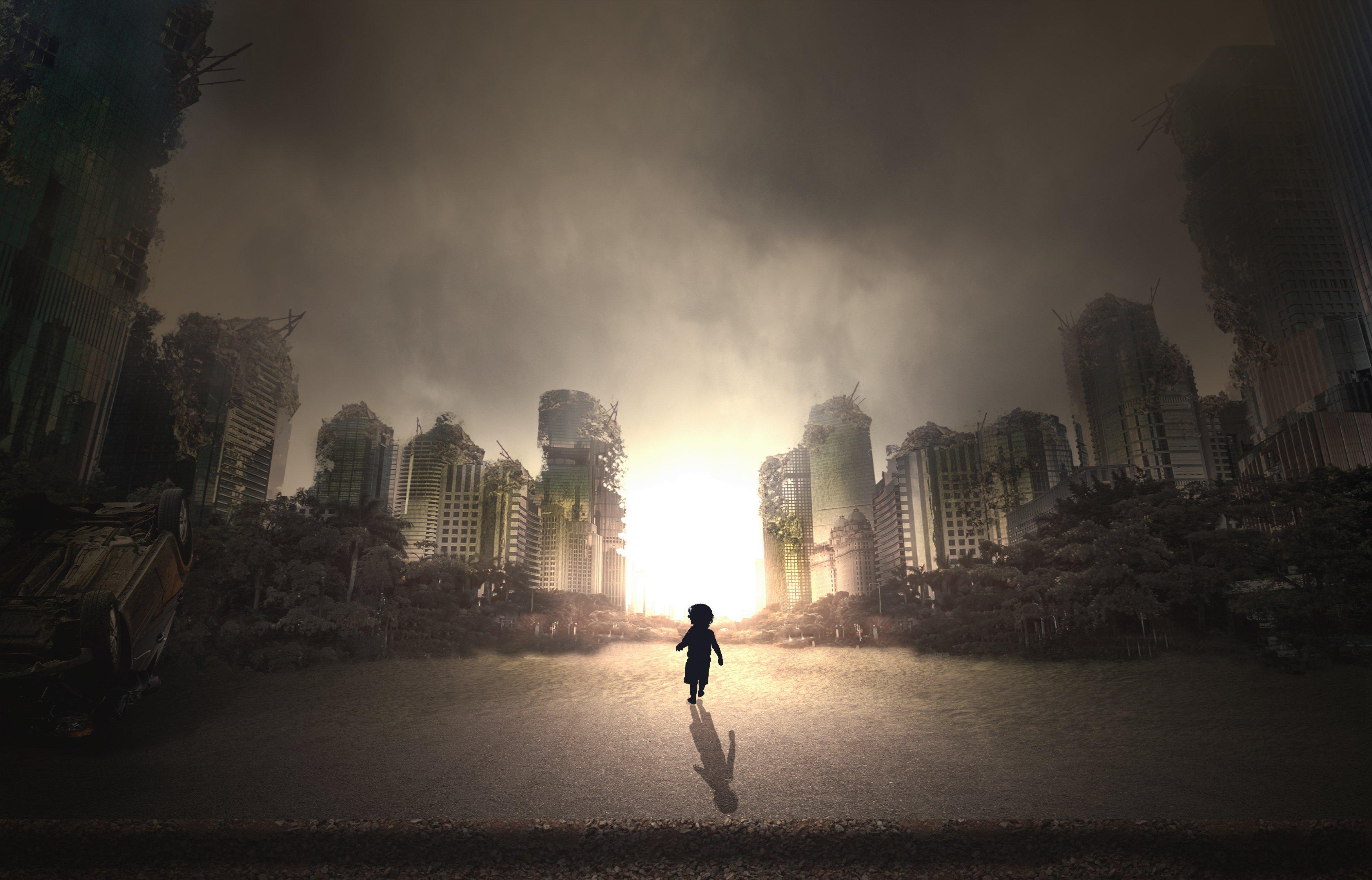 Una ciudad en ruinas.