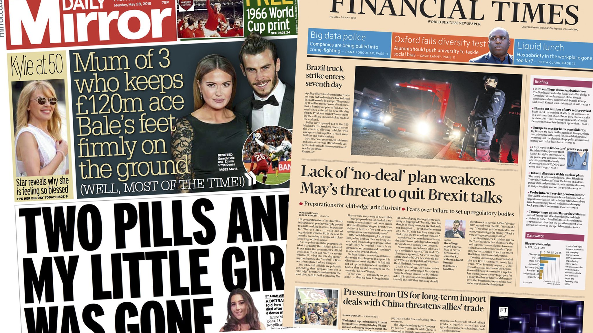 The Papers: Festival death plea and Brexit warnings