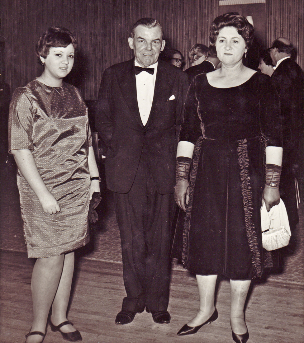Norma, Mary's husband George and Mary