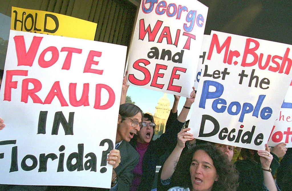 Partidarios de Gore protestan en Florida