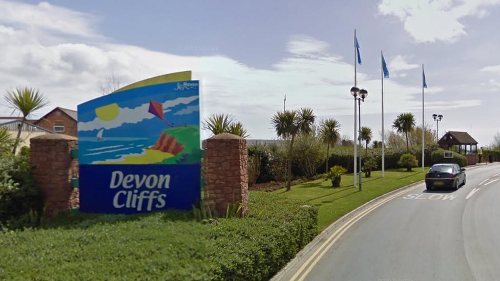 Devon Cliffs sign