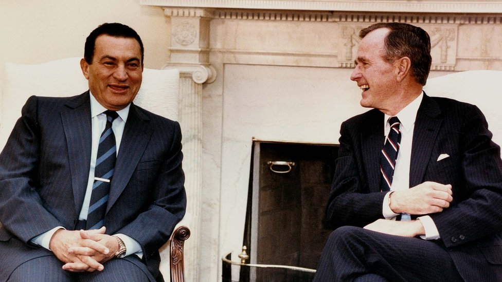 President Mubarak and President Bush snr