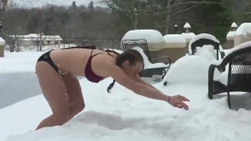 Snow diving