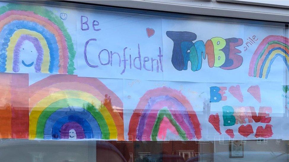 Coronavirus Rainbow Pictures Springing Up Across The Country Bbc News