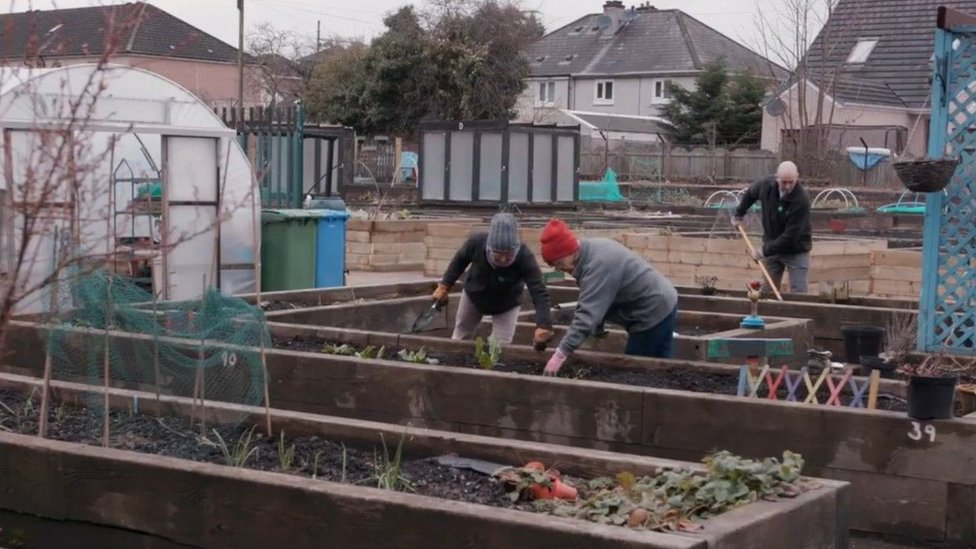 Volunteers at the Shettleston Growing Project in Glasgow