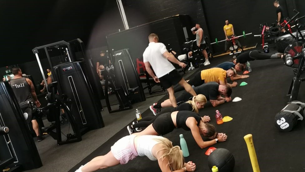Members doing circuits at the gym