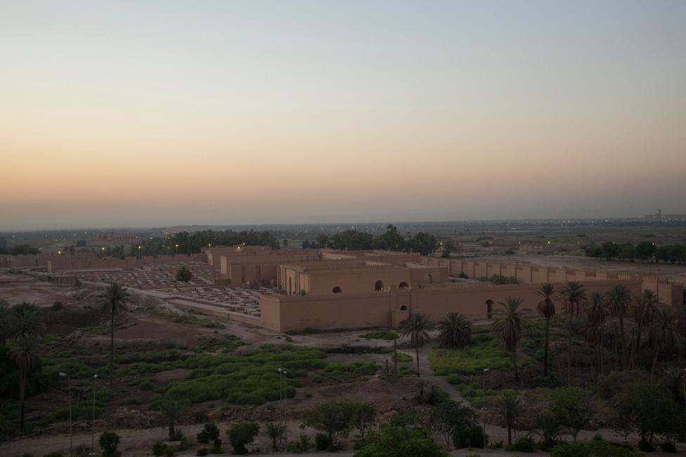 Vista de Babylon, Irak.