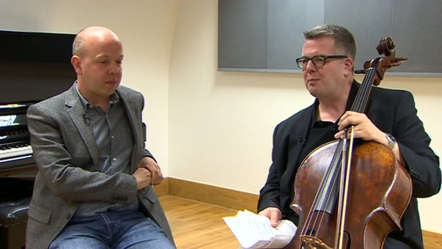 Composer Huw Watkins (l) and cellist Paul Watkins (r)
