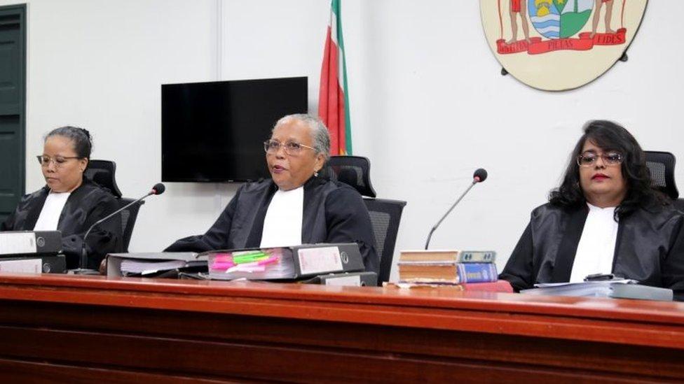 Tribunal que condenó al presidente de Surinam