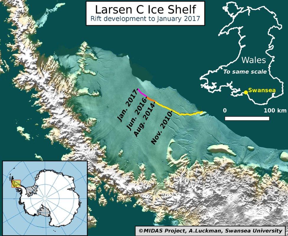 potongan gunung es