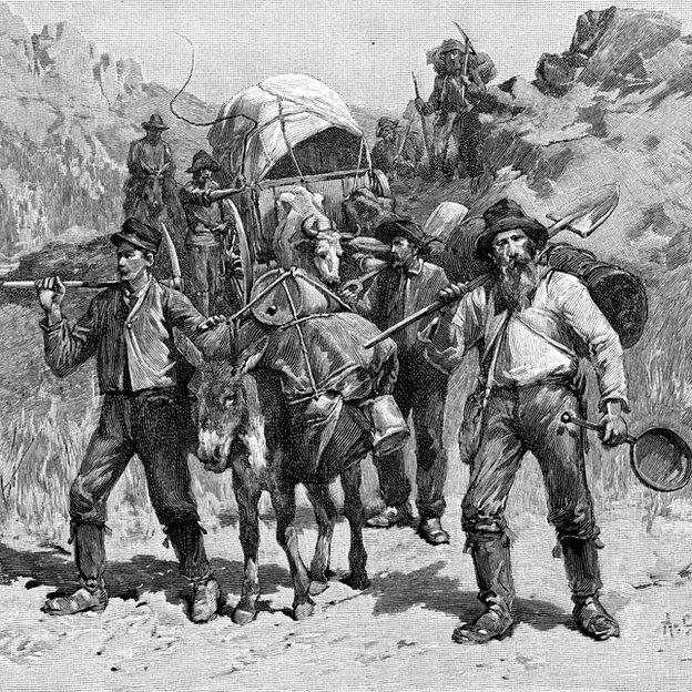 El estado se llenó de migrantes con sueños de riquezas.
