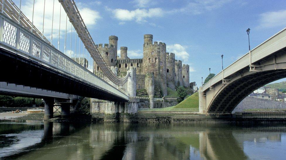 Bridges leading to Conwy Castle