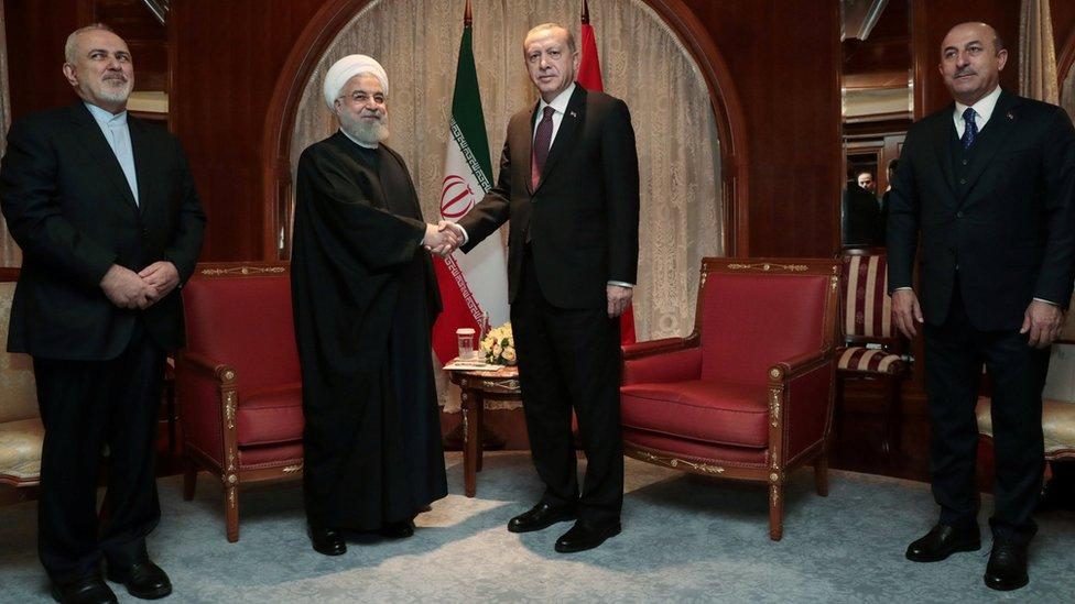 لقاء الرئيسين التركي والإيراني على هامش قمة سوتشي