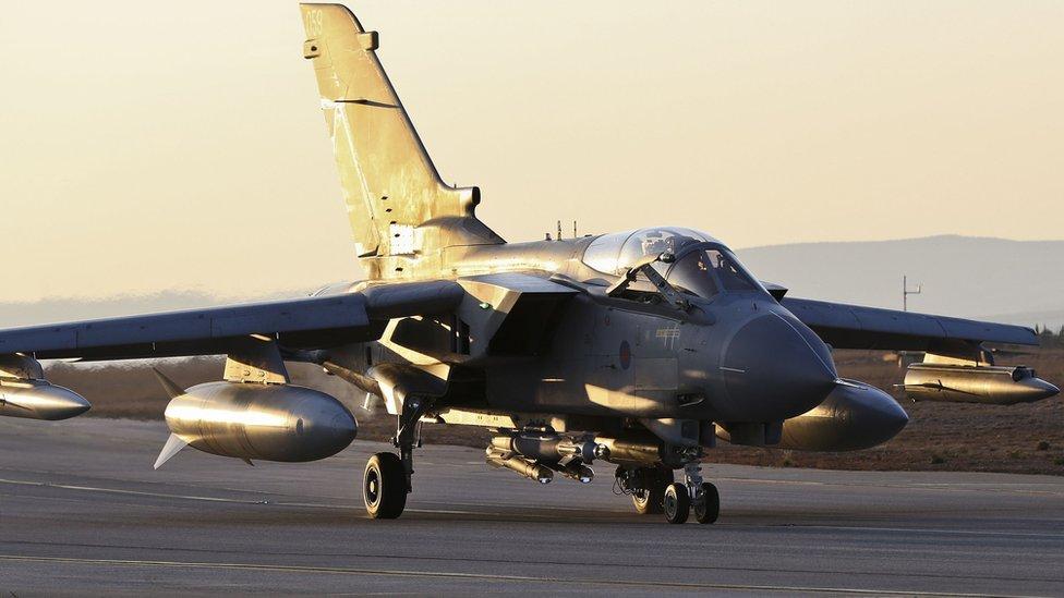 RAF Tornado GR4 returning to RAF Akrotiri in Cyprus in 2014