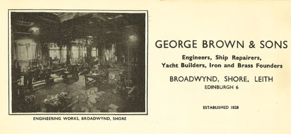 Henry worked at George Brown and Sons in Leith