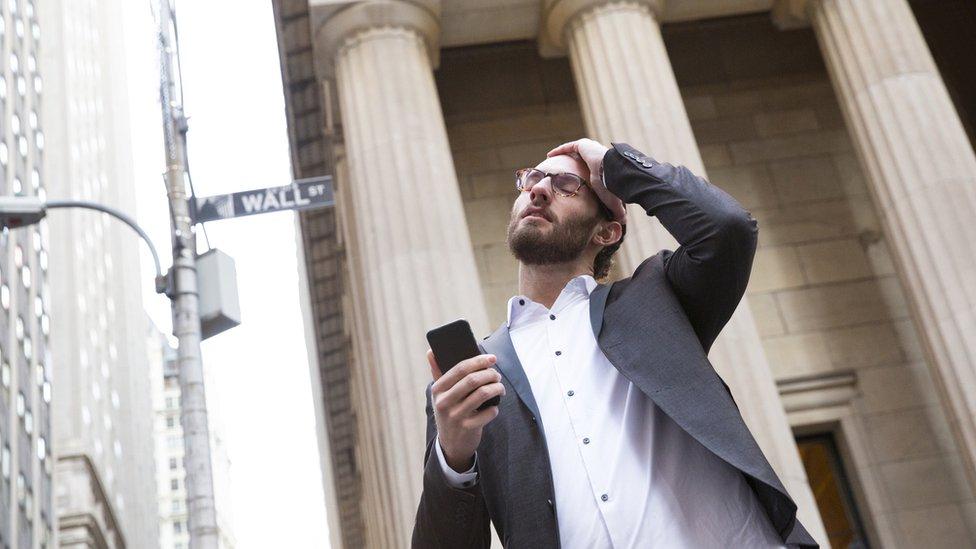 Hombre en Wall Street
