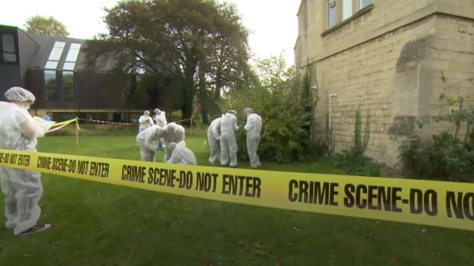 Forensic trainees go inside the 'murder house'