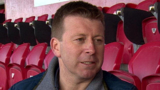 Pat McGibbon has been appointed interim Portadown boss following Ronnie McFall's resignation