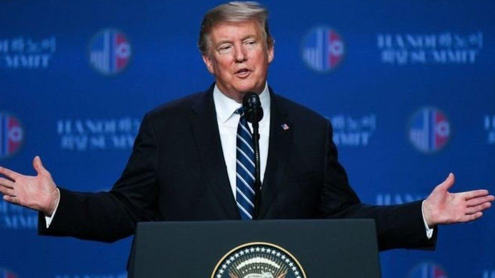 Trump menolak permintaan Kim agar semua sanksi terhadap Korea Utara dicabut.