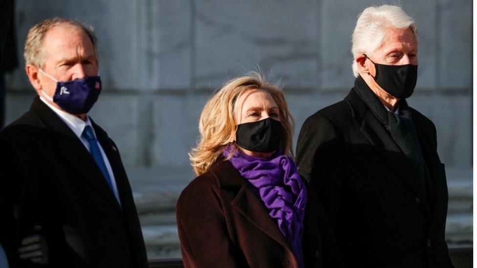 Hillary Clinton, en la inauguración de Joe Biden.