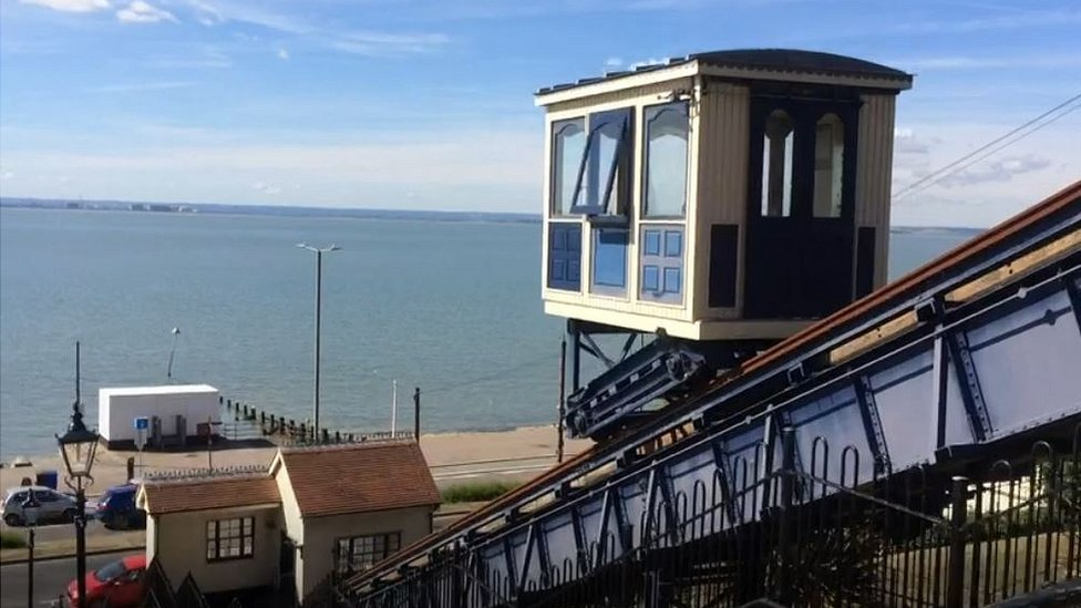 Take a trip on the historic Southend cliff lift