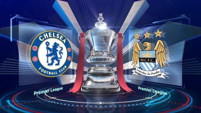 Chelsea v Man City badges