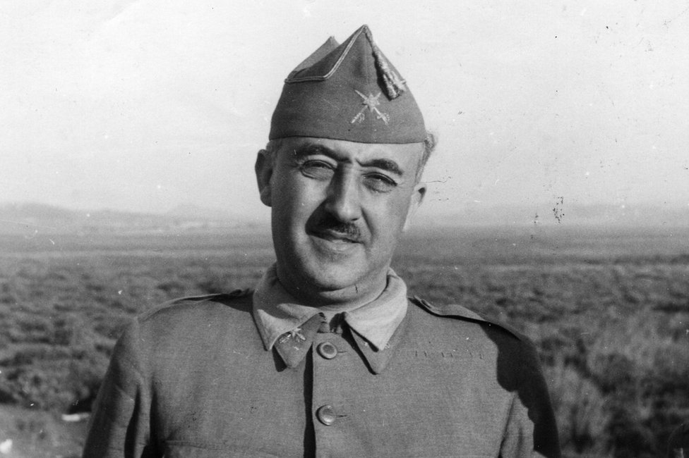 El general Francisco Franco el 27 de agosto e 1937.