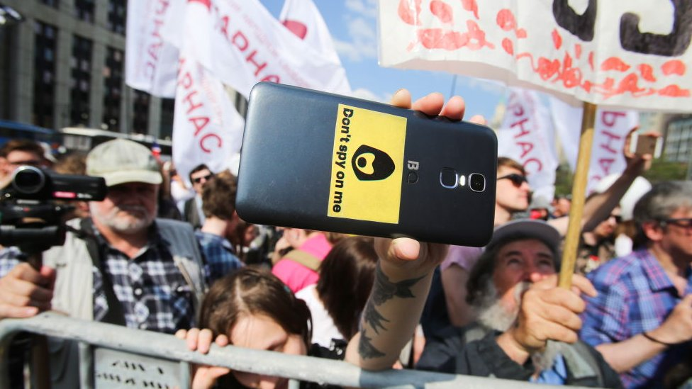Manifestación en Moscú.