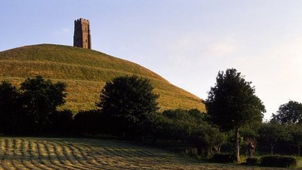 Glastonbury Tor with St Michael's tower