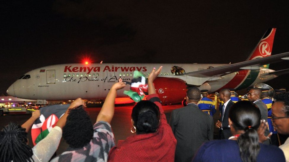 Avión de Kenya Airways.