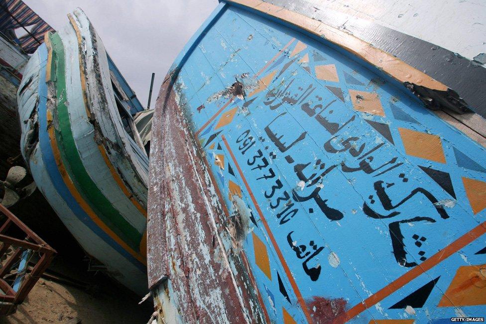 Fishing boat in Lampedusa