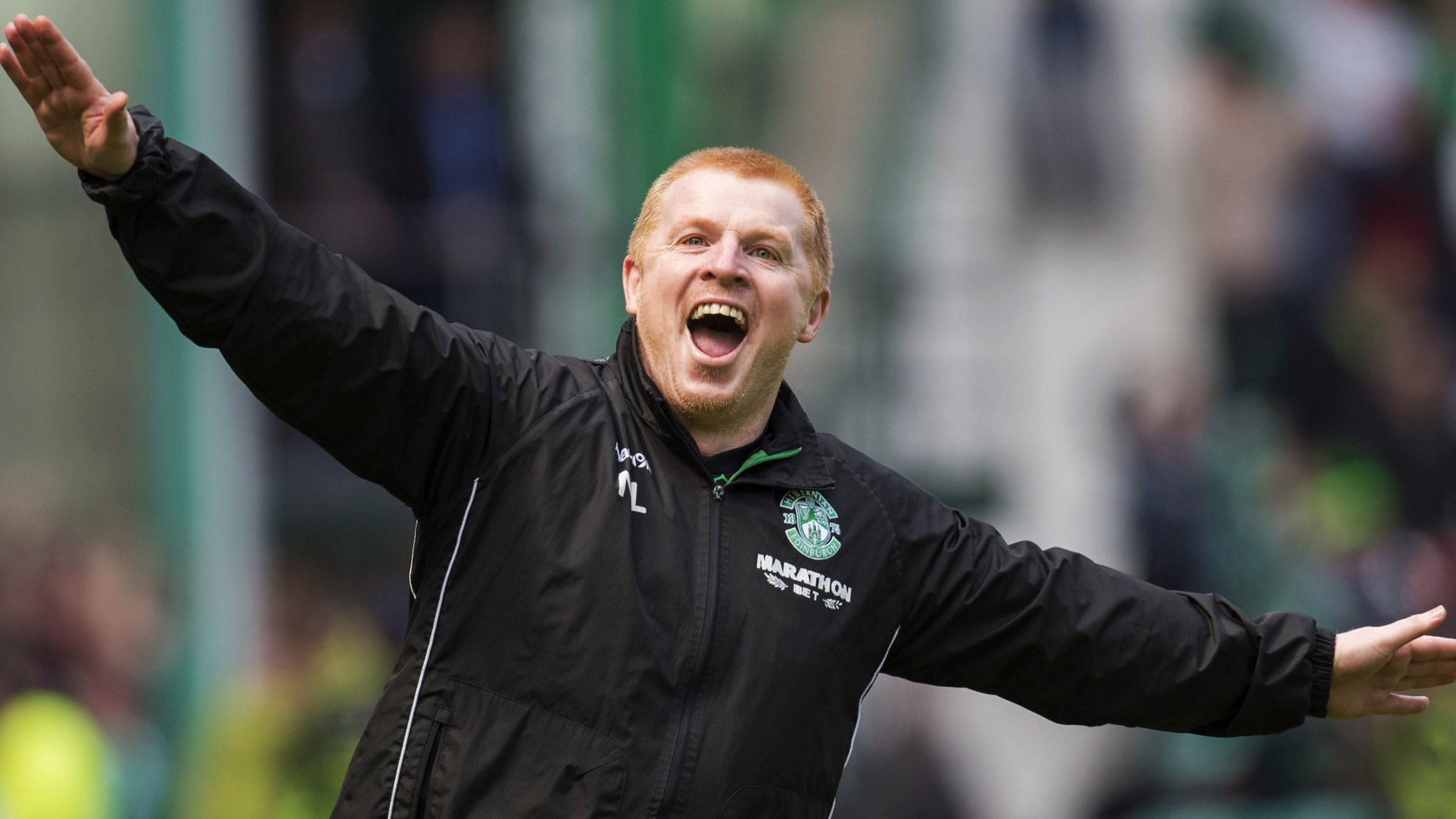 Hibs' Neil Lennon is banned for three matches after 'aeroplane' celebration