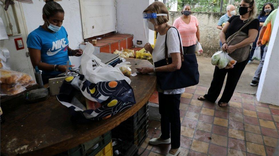 Mercado en Caracas.
