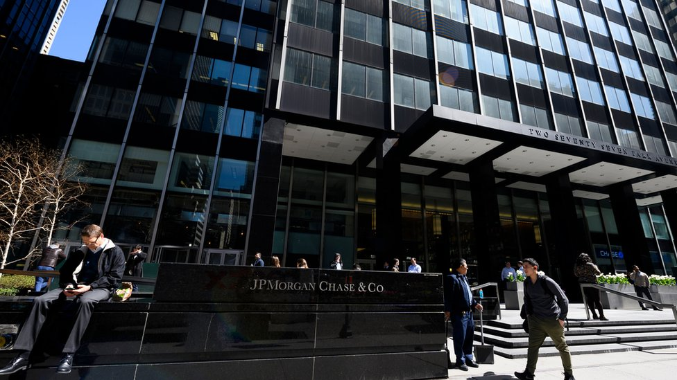 The JPMorgan Chase & Co. world headquarters is pictured on April 17, 2019 in New York City