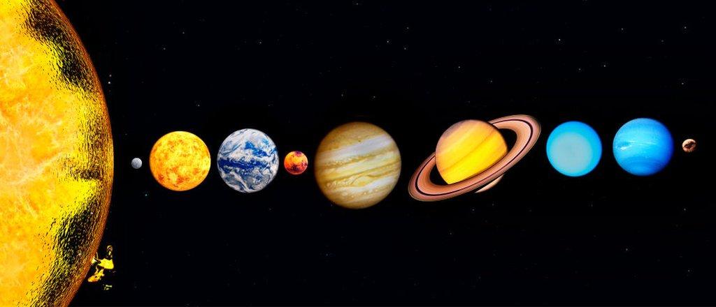 Sistema Solar con Plutón