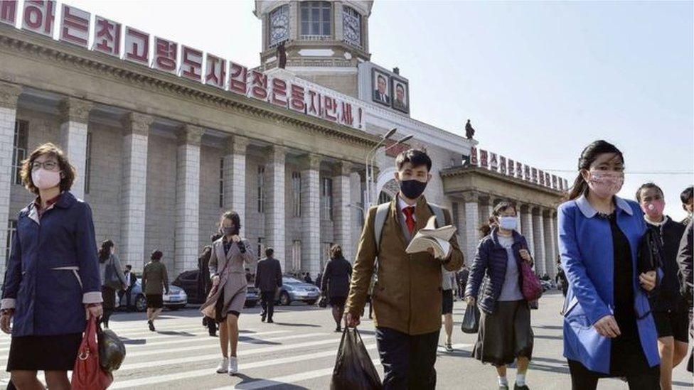中國和韓國爆發新冠疫情後,朝鮮嚴格限制外國人出入境。